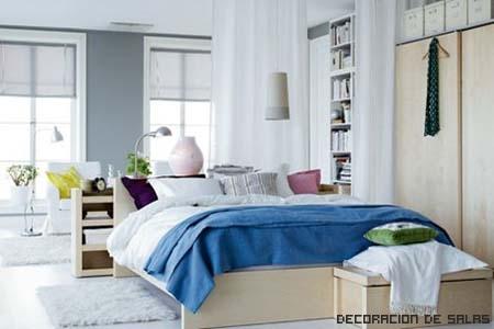 dormitorio toques de color