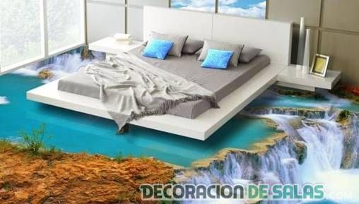 dormitorios con suelo en 3d