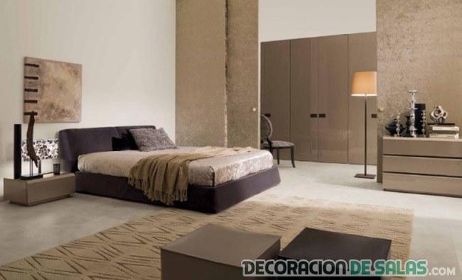 dormitorios en colores marrones