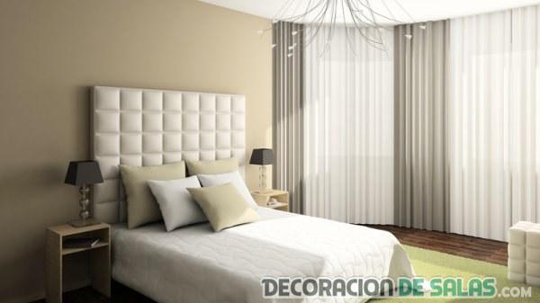dormitorios en neutros con color