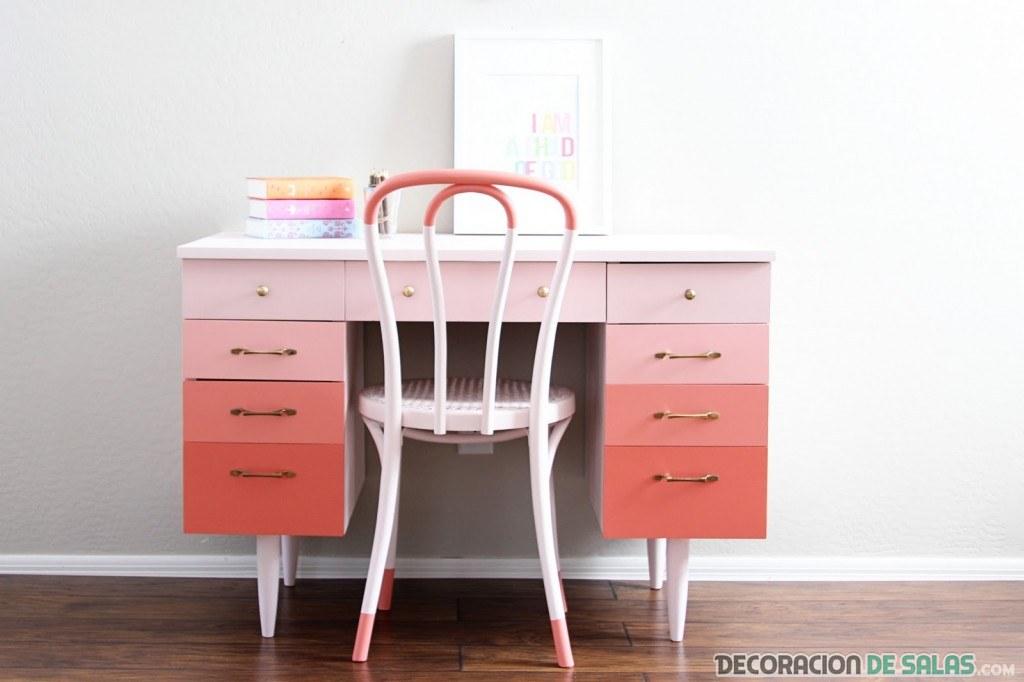 escritorio con efecto degradado