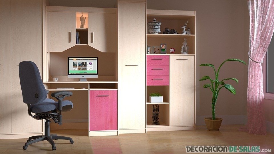 escritorio de chica