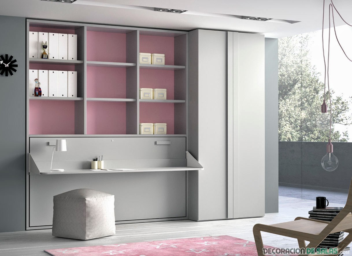 escritorio moderno con cama plegable