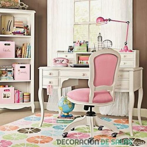 escritorio vintage de niñas