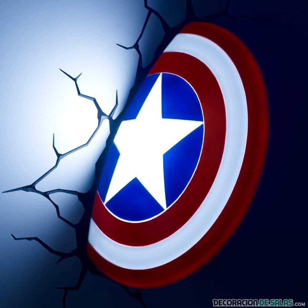 escudo capitan america lampara marvel