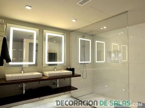 espejos de baño con luz modernos