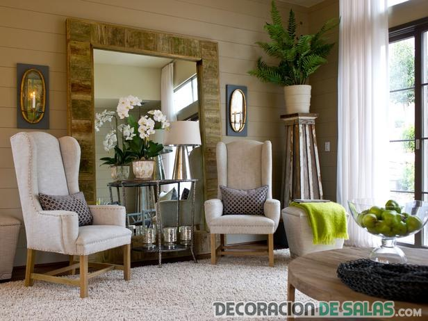 espejos de pie para salones elegantes
