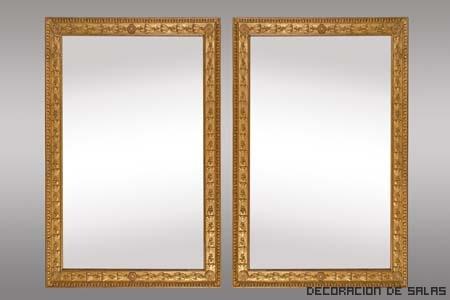 espejo marco dorado