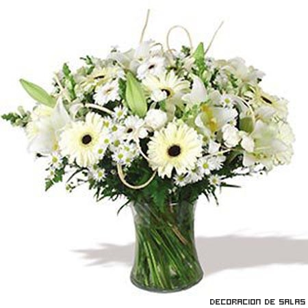 Flores Blancas decorativas