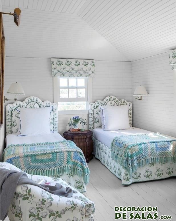 habitación compartida en azul