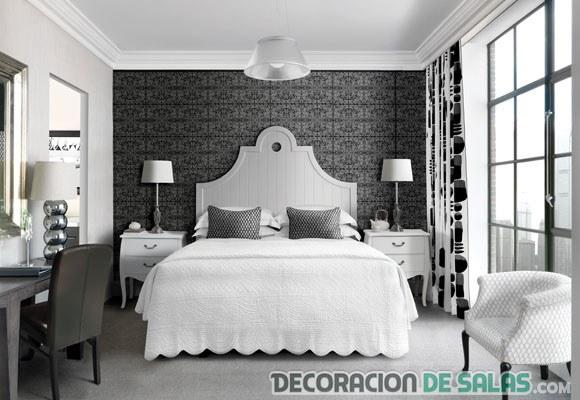 habitación ecléctica en blanco y negro