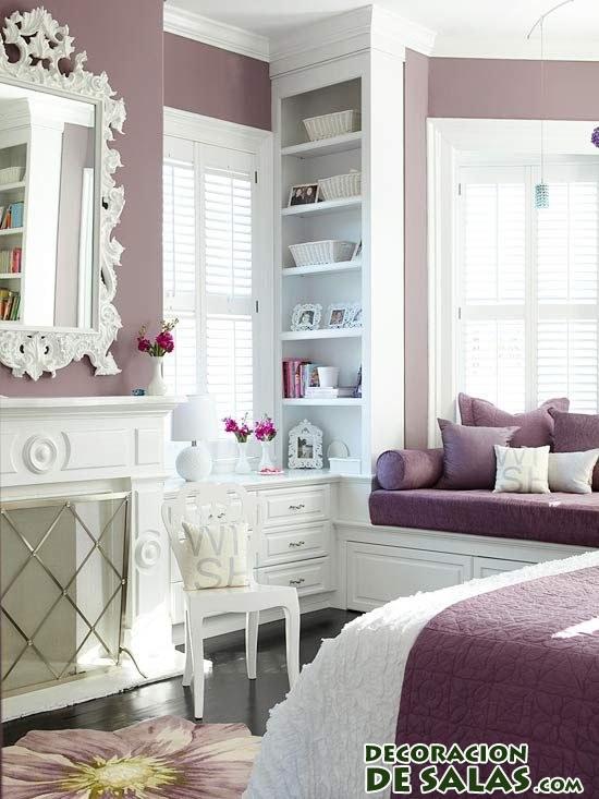 habitación elegante en malva