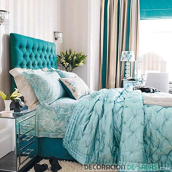 habitación en azul