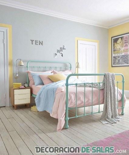 habitación en colores pastel