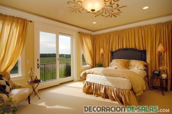 habitación en dorado