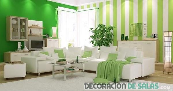 habitación en tonos verdes