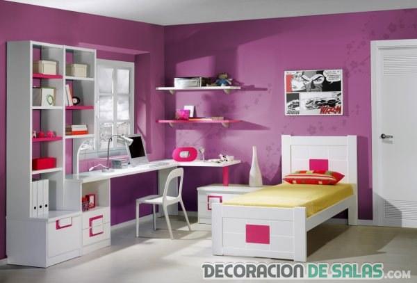 habitación grande femenina juvenil