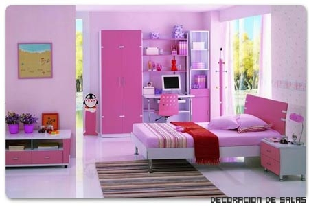 habitación infaltil rosa