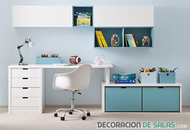 habitacion juvenil azul asoral