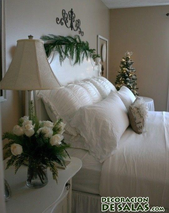 habitación navidad en blanco
