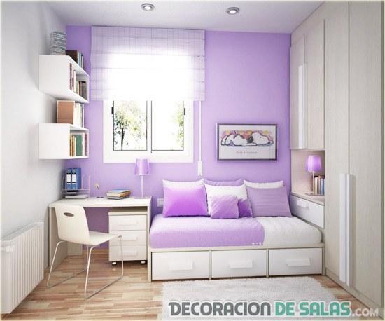 habitación pequeña el lila