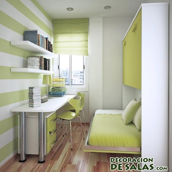habitación pequeña en verde