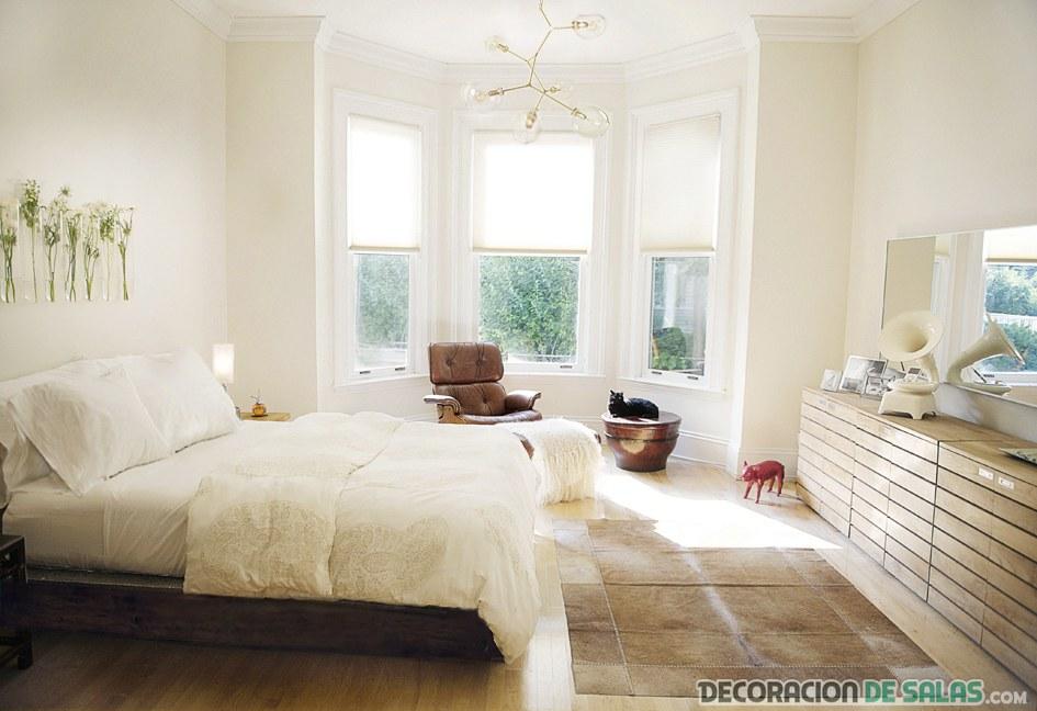 habitación relajante en blanco