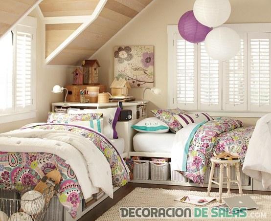 habitaciones dobles para chicas jóvenes