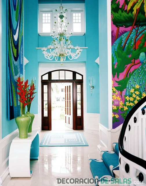 hall color turquesa