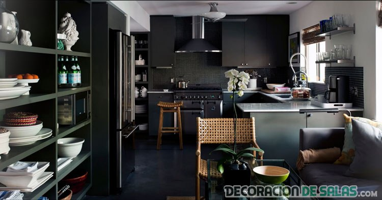hogar decoracion color negro