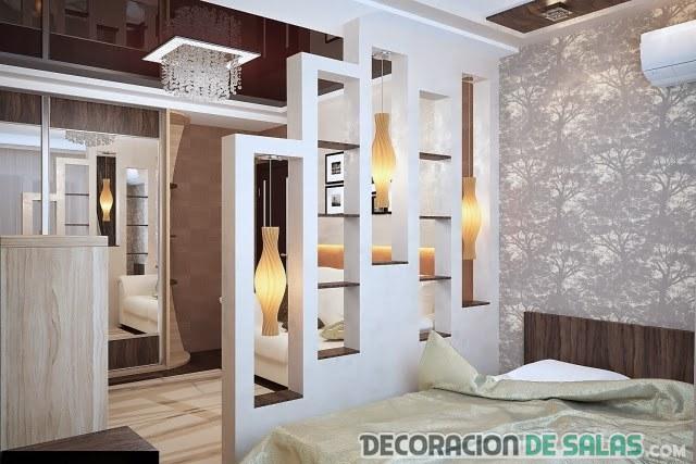 ideas de separación de ambientes en dormitorios
