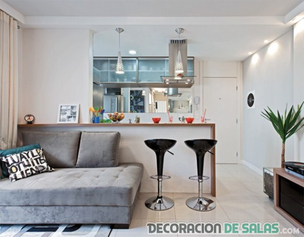 interior apartamento con cocina americana