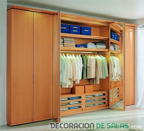 interior de los armarios