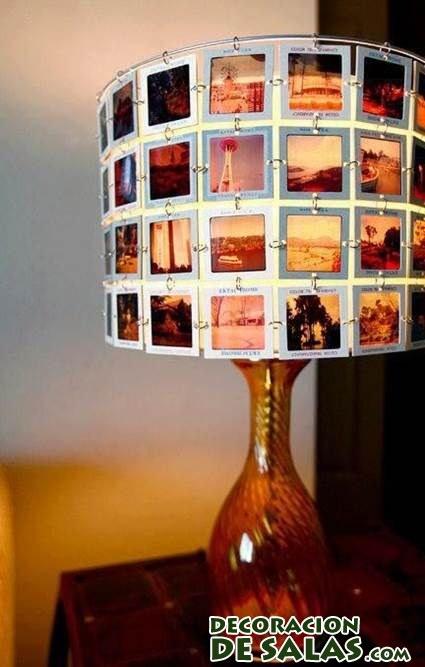 lámpara con diapositivas