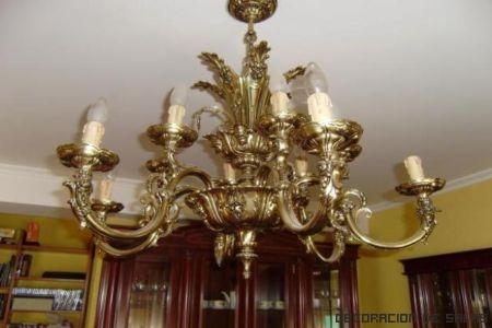 lampara de bronce