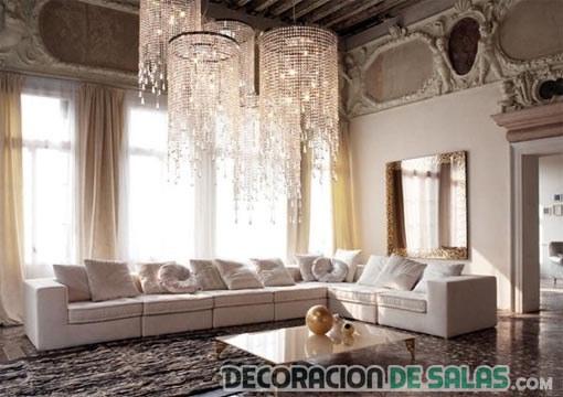 lámparas glam para salón