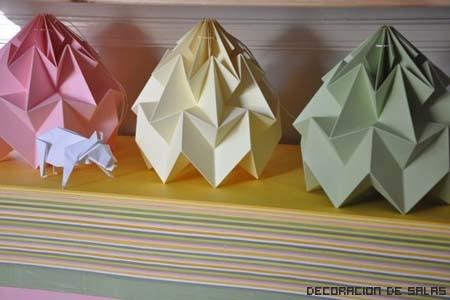 lamparas origami mesa