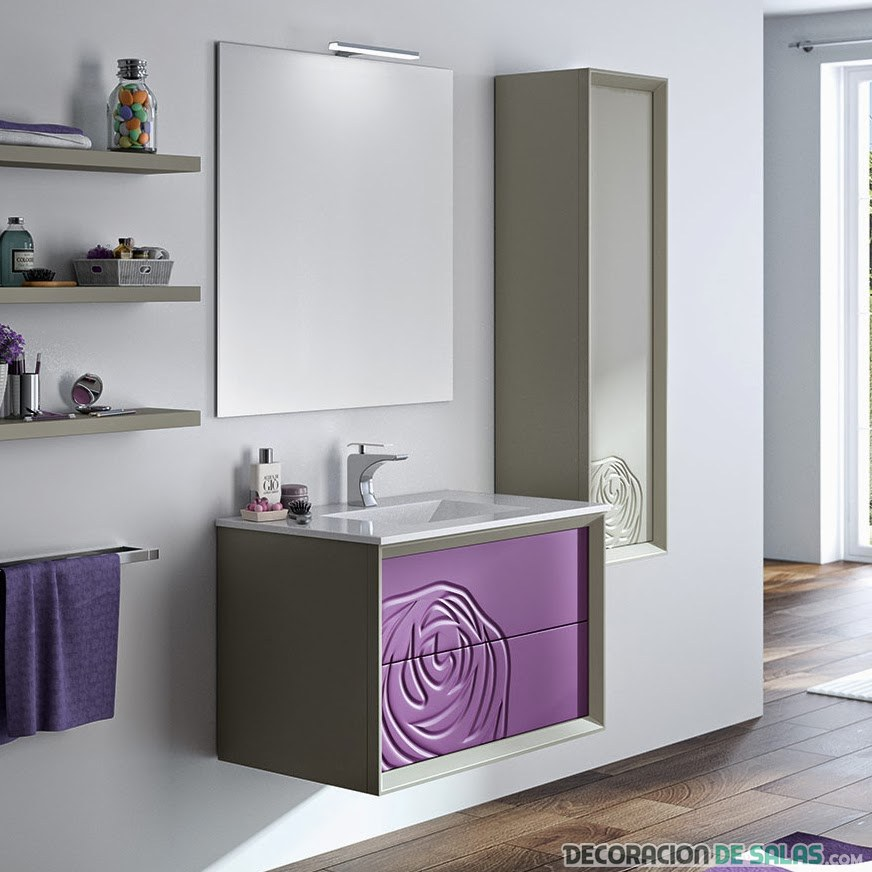 lavabo en color malva