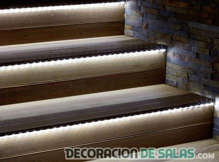led escaleras hogar