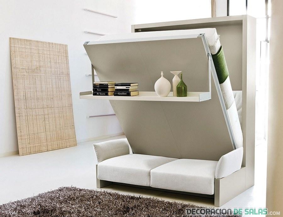 librería con cama murphy