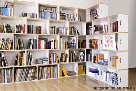 librería llena