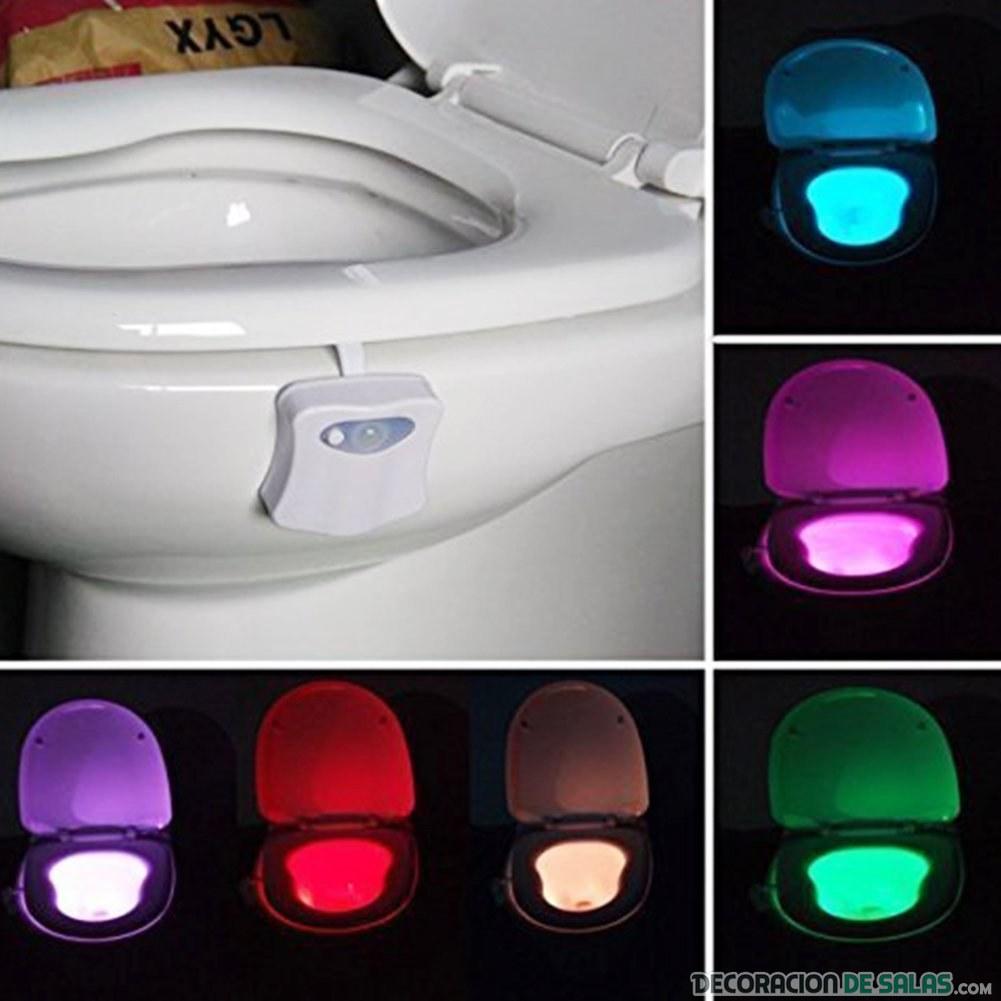 luces para baños e inodoros