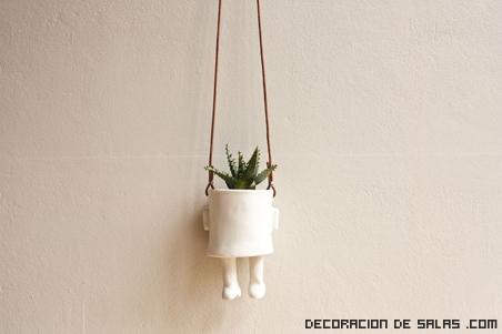 macetas para decoración de interiores