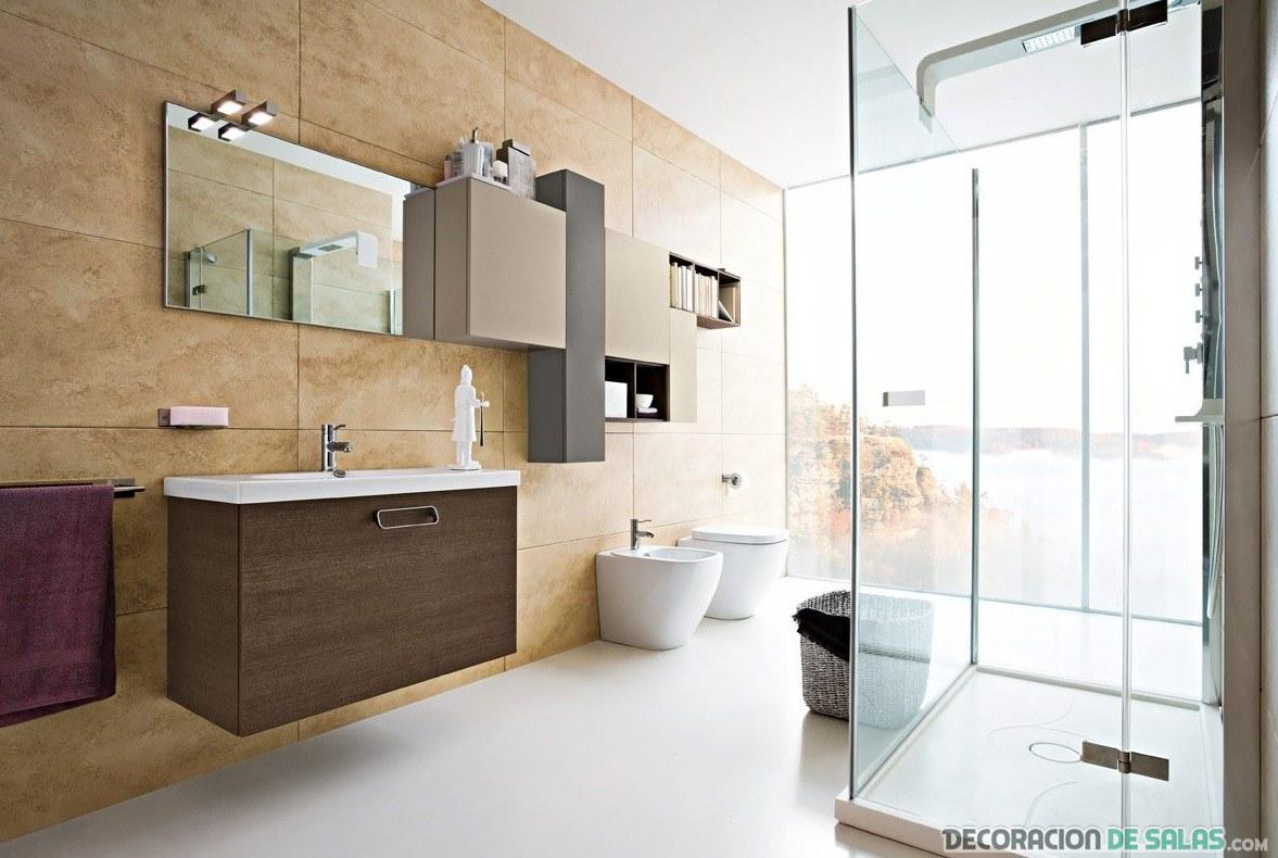mamparas de baño modernas