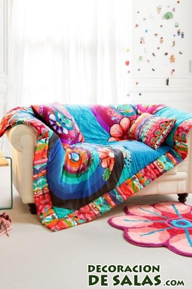 mantas desigual en colores