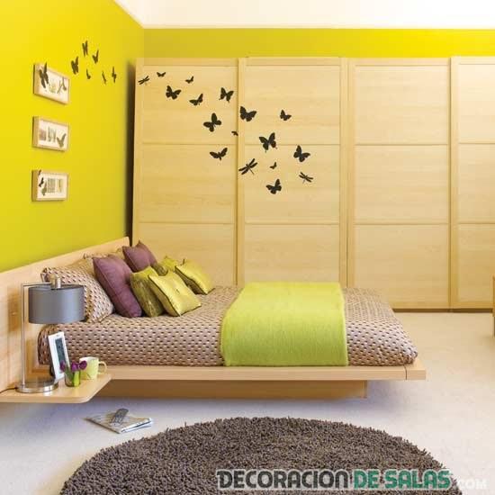 Mariposas decorando habitaciones
