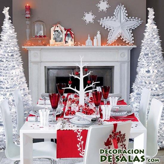 mes de navidad en color rojo