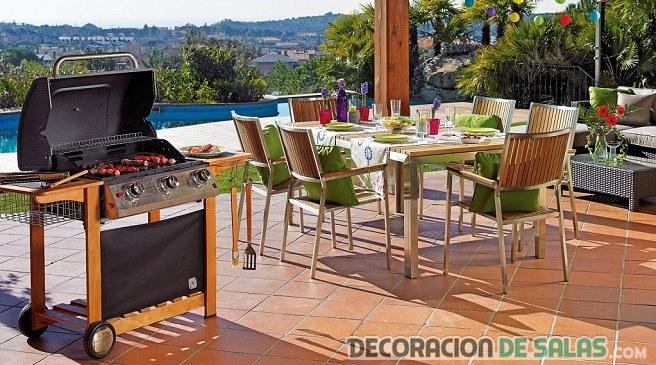 mesa comedor terraza barbacoa