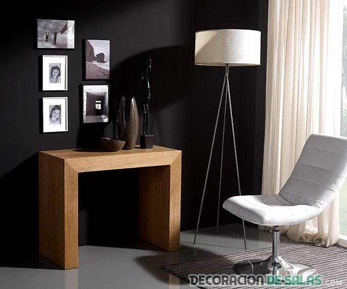 mesa consola en madera
