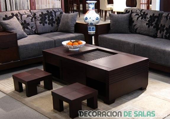 mesa de centro con estilo oriental